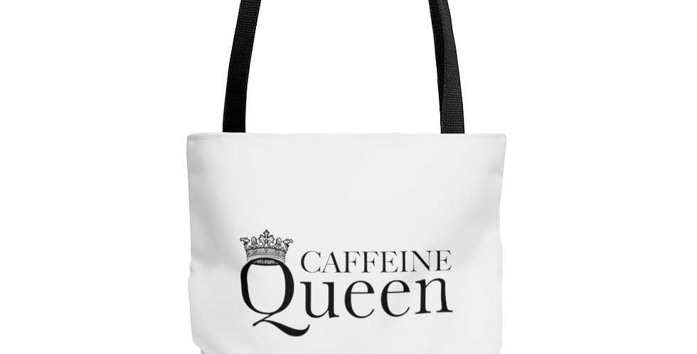 Caffeine Queen Tote Bag