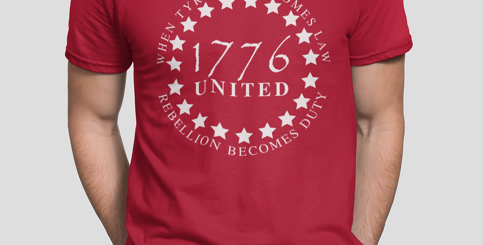 1776 UNITED Patriotic Unisex T-shirt (Available 8 Colors)