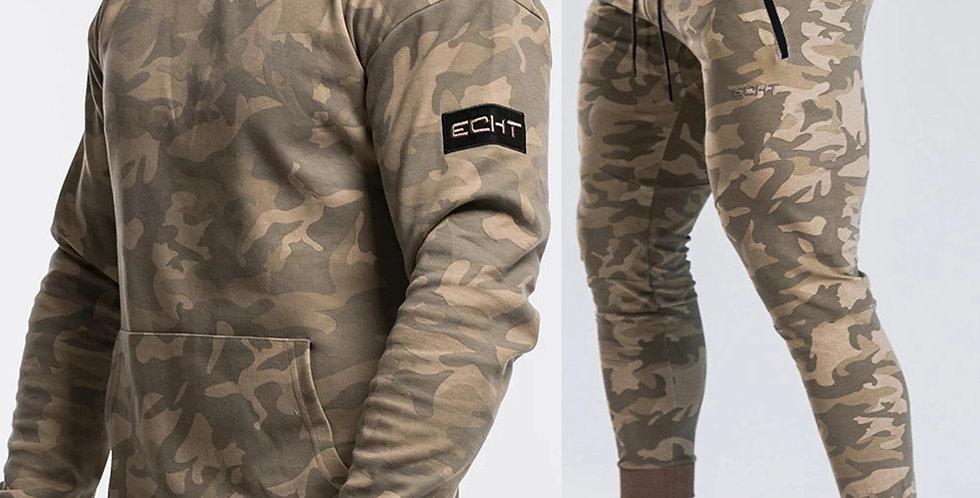 Tracksuit Camo Hoodie Pants Set