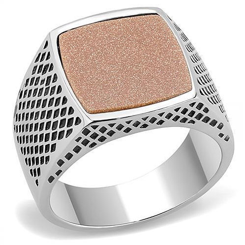 Stainless Steel Power Statement Ring
