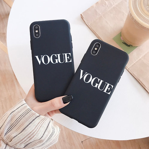Vogue Style Soft Silicon Phone Case