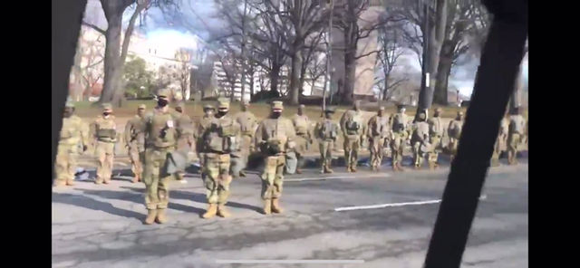 """National Guard turns their back on the Biden Inaugural Motorcade - """"Not My President"""""""