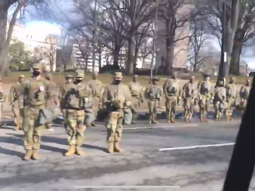 "National Guard turns their back on the Biden Inaugural Motorcade - ""Not My President"""