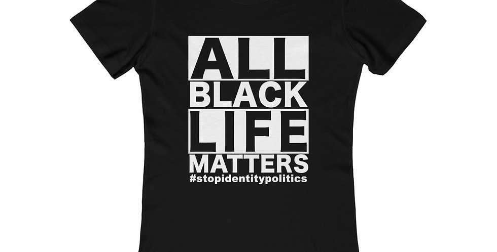 ALL Black Life Matters Womens Fitted Tee