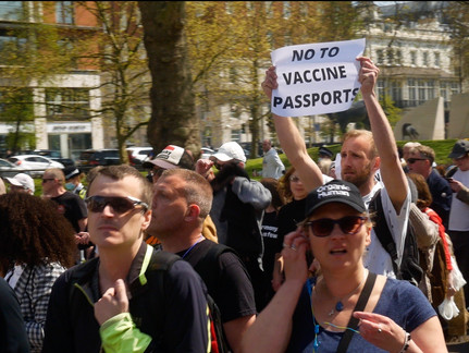 REPORT: Thousands Protest Against Vaccine Passports in London