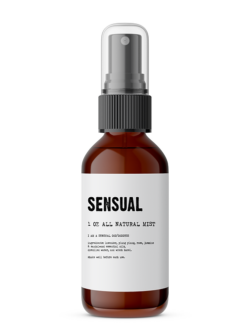 Sensual - Meditation/Body Mist - Made With All Natural Ingredients