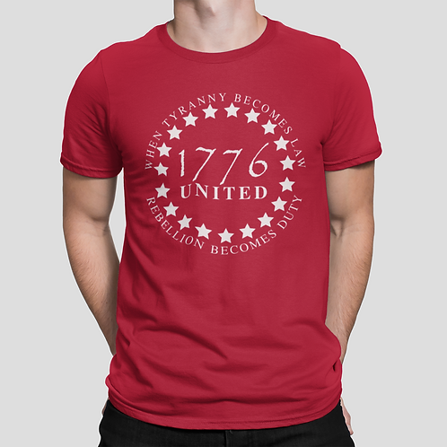 1776 UNITED Patriotic Unisex T-shirt (Available 5 Colors)