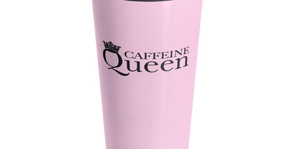 CAFFEINE QUEEN Pink Travel Mug