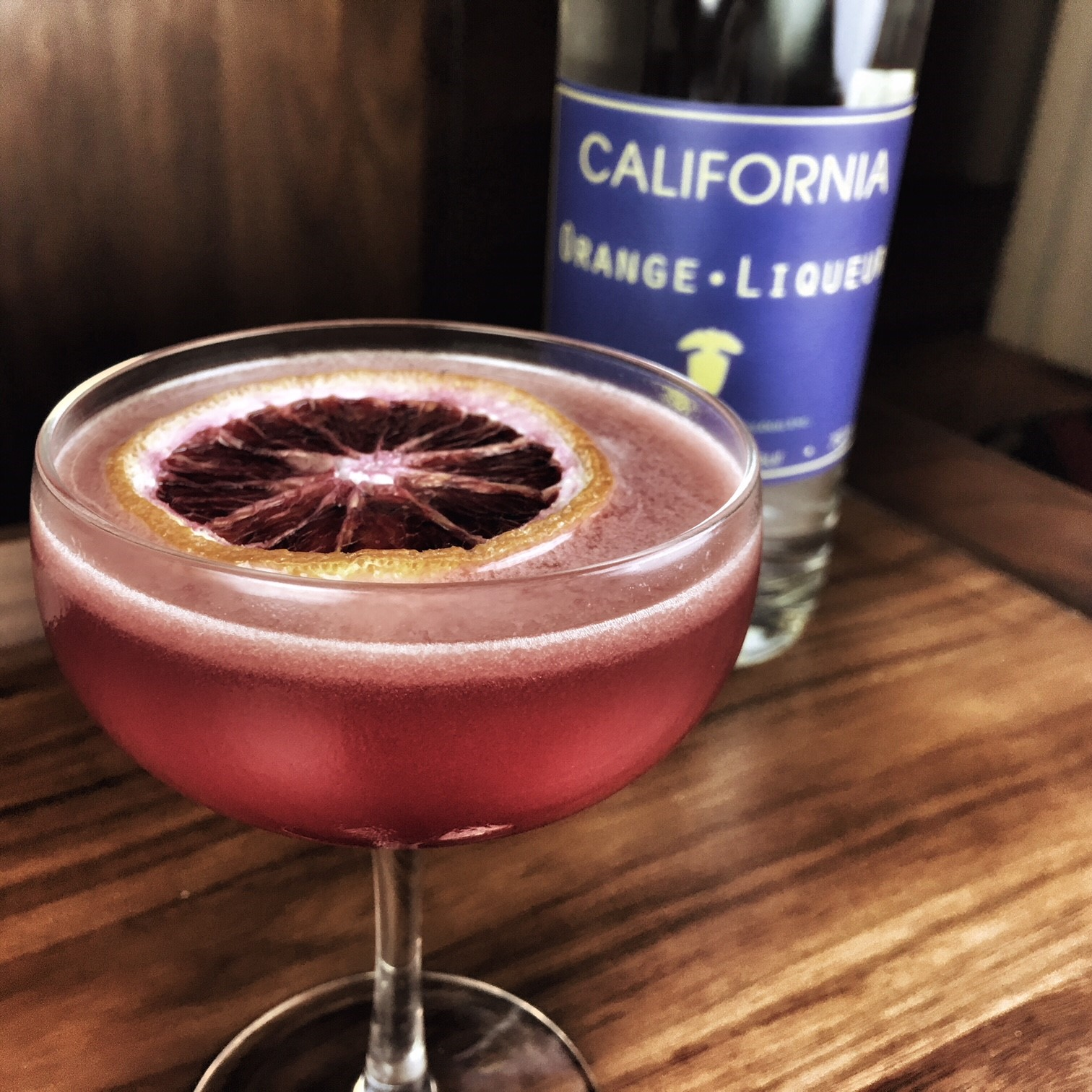 Blood Orange Sidecar