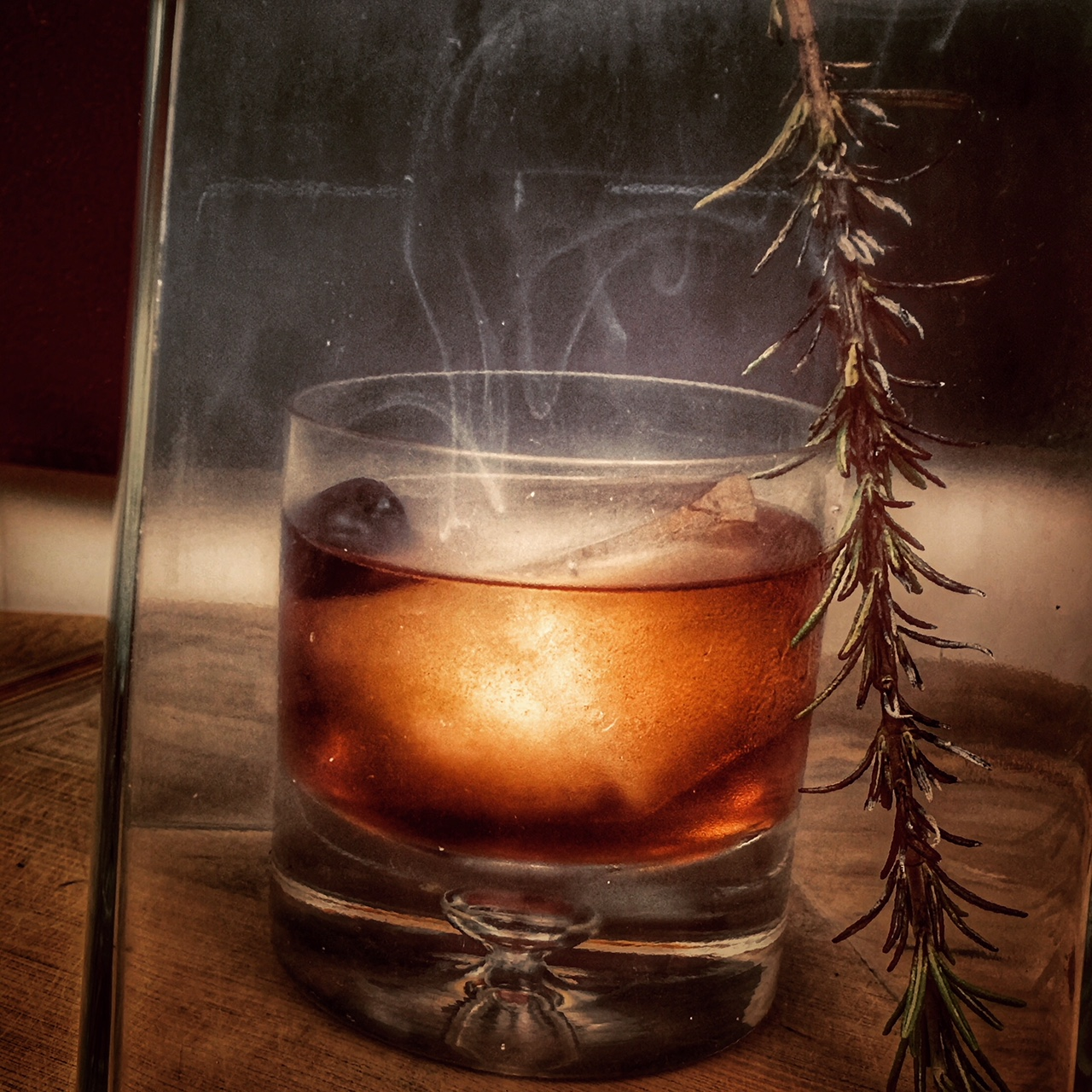 Rosemary smoked Old Fashioned