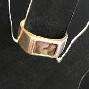 Custom Silver Riing with Mother of Pearl Inlay