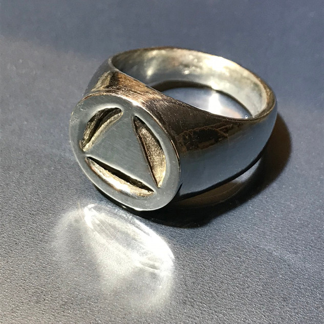 Circle & Triangle Ring