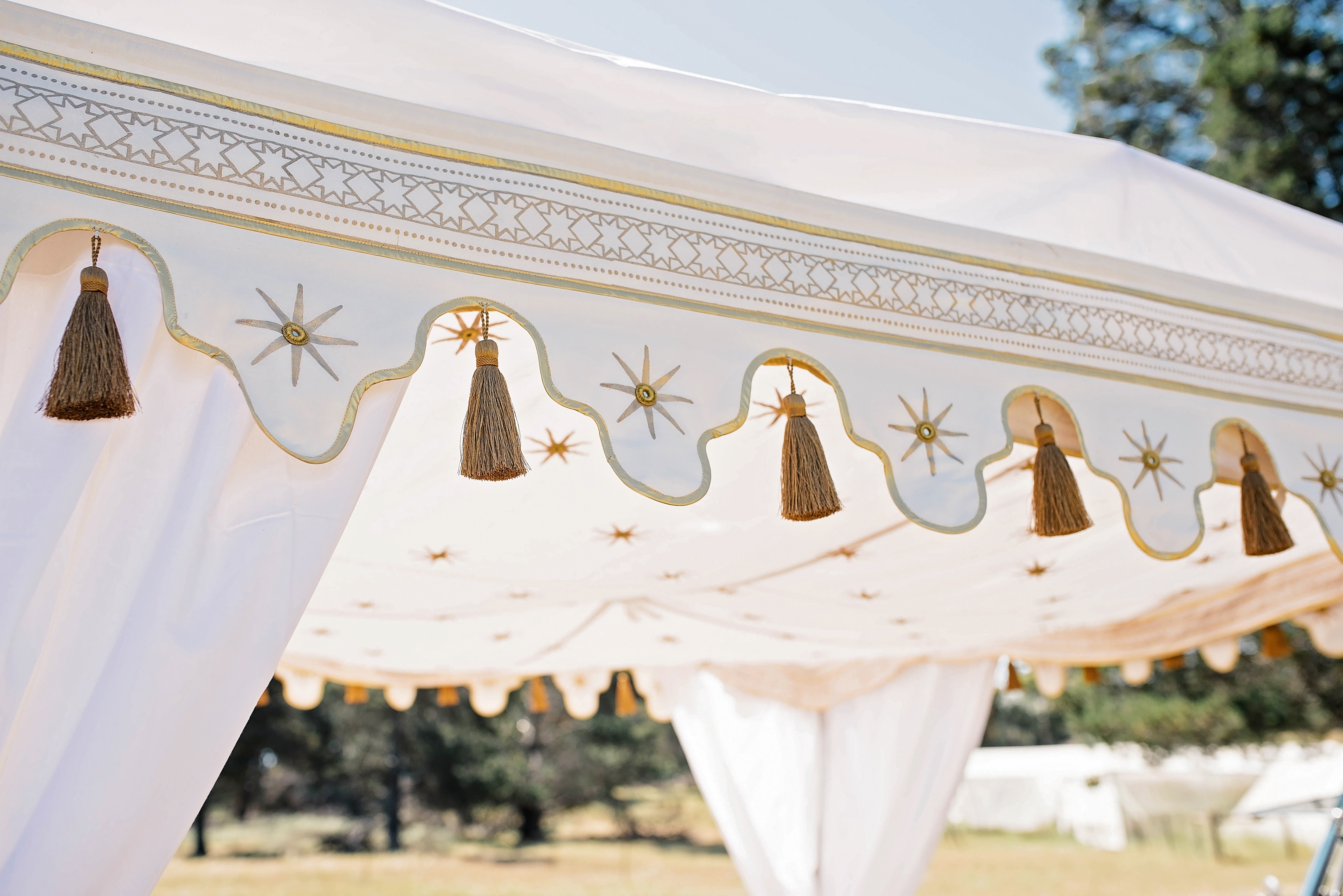 Details in Boho Tent