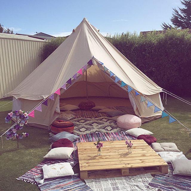Children's birthday set up - pallet