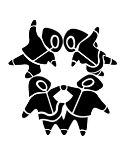 Stencil of Inuit National Flag
