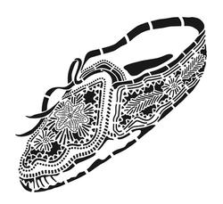 Seneca Moccasin Stencil