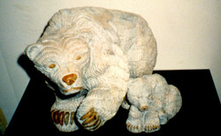 Philip Cote  Mother Bear and Cub