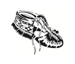 Anishinaabe Moccasin (Algonquin) Stencil