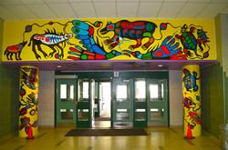 Philip Cote  Underworld Mural 01 Cedarbrae TDSB