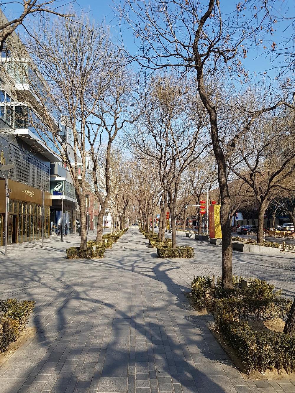 Deserted streets in Beijing
