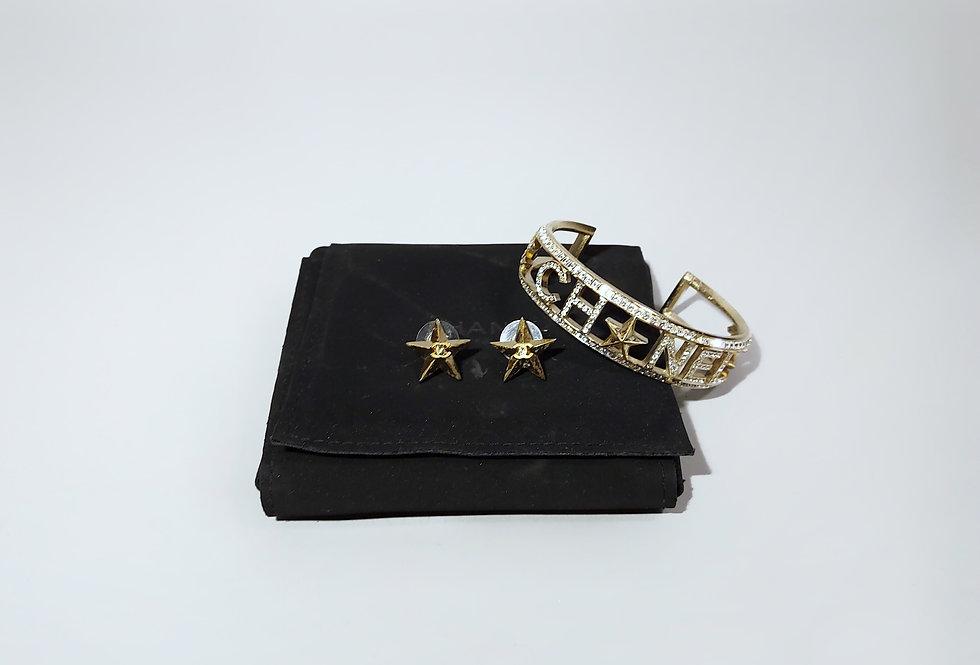 Комплект браслет и серьги CHANEL