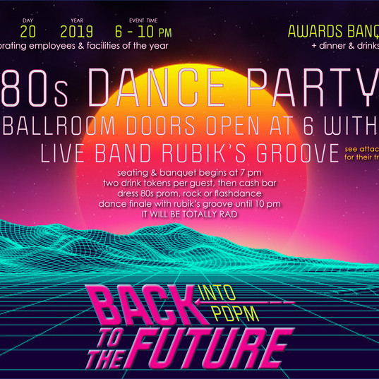 80s Dance Party Awards Banquet