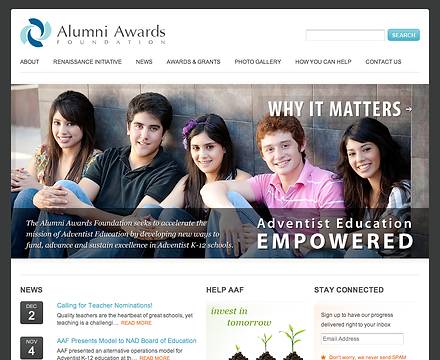 Alumni Awards Foundation Home Page Snaps