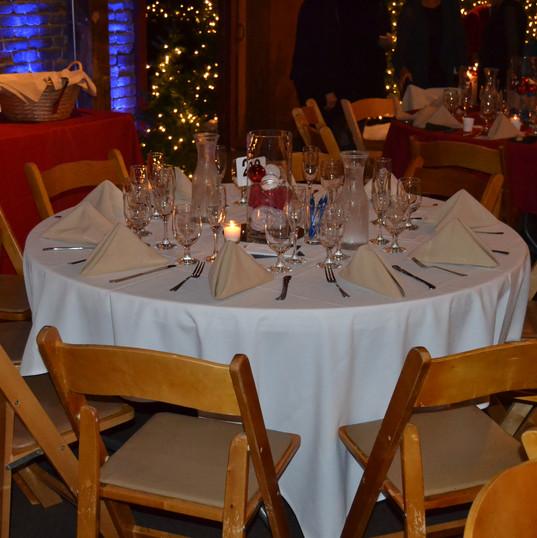 AAF Gala Tables Set-Up