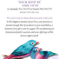 Wedding Invitation Enclosure