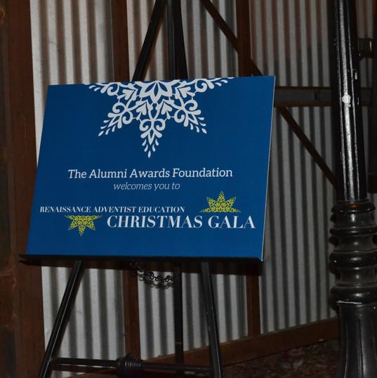 AAF Gala Welcome Signage