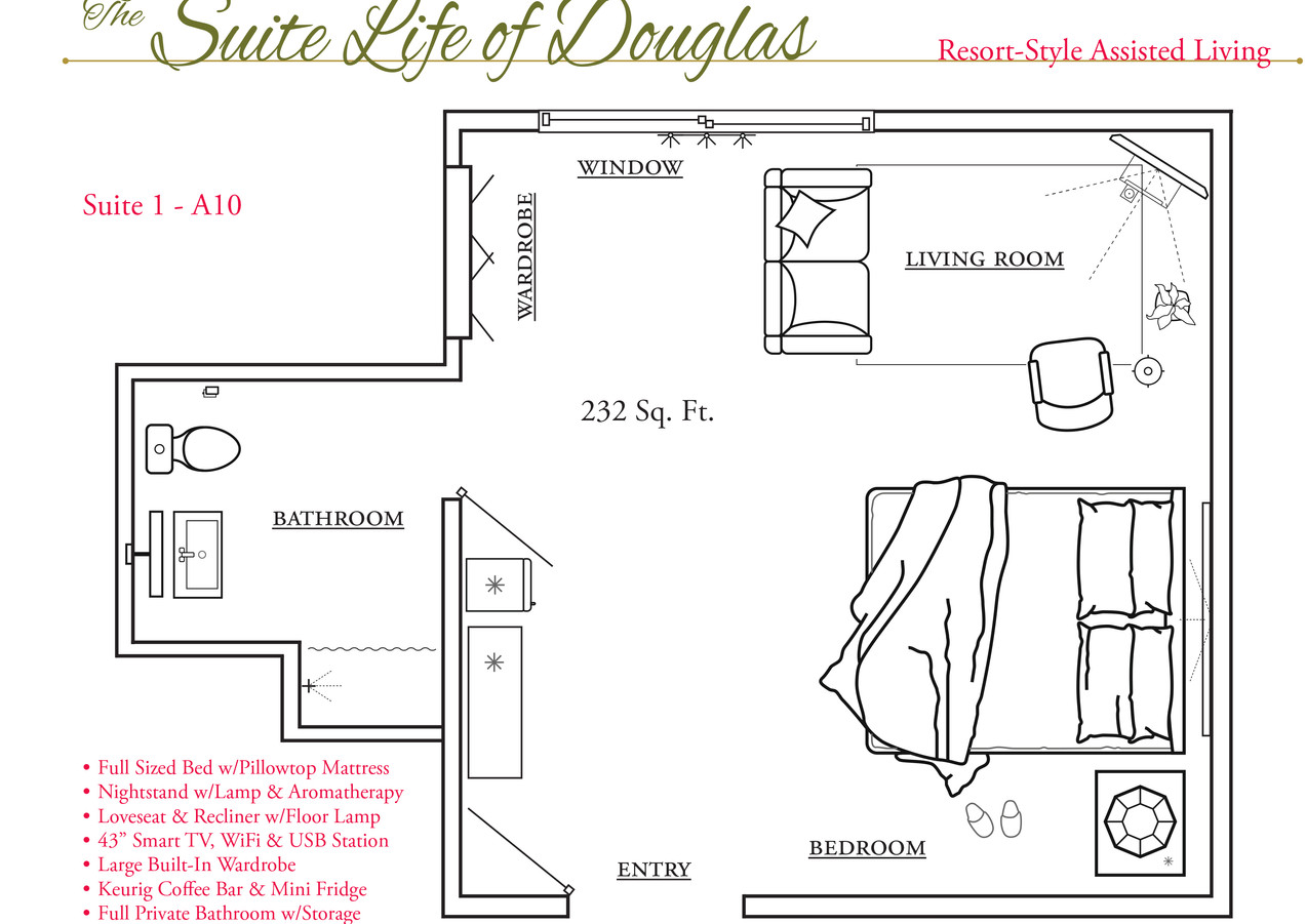 Assisted Living Suite Floor Plan