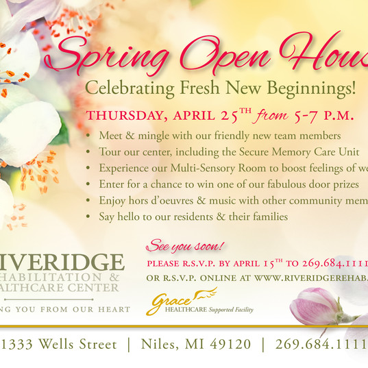 Spring Open House Invitation