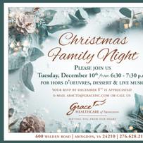 Christmas Family Night Invitation