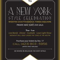 New Year's Eve Gala Invitation