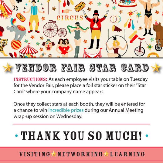 Vendors Star Cards Instructions