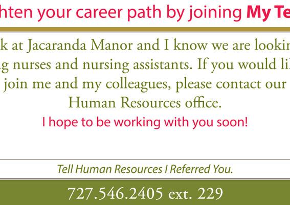 Recruitment Referral Card