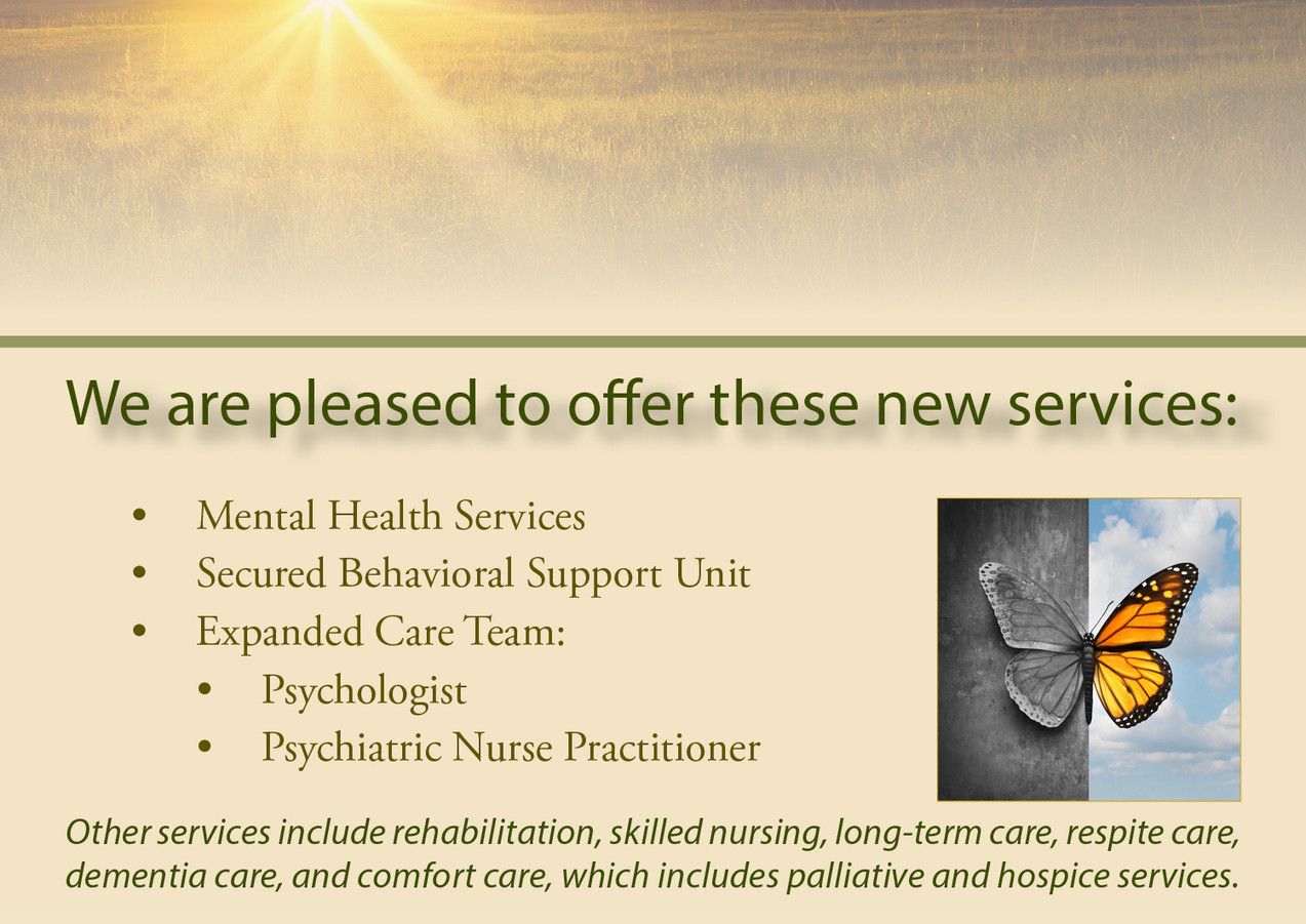 New Services Announcement Card