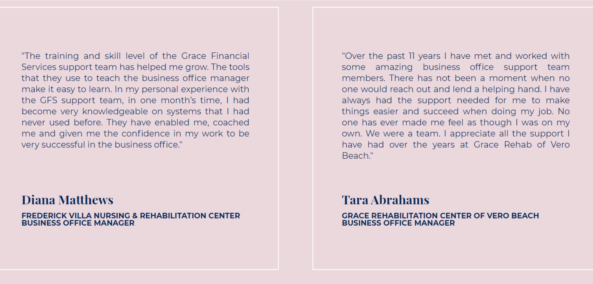 GFS Testimonials Page