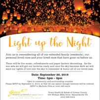 Light Up the Night Invitation