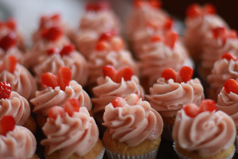 Cupcakes með Sviss Marengs kremi