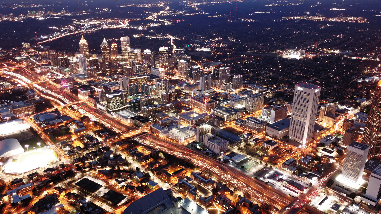 Atlanta at night