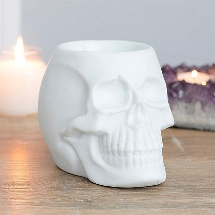 White Skull Tealight Burner