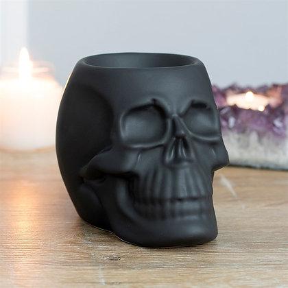 Black Skull Tealight Burner