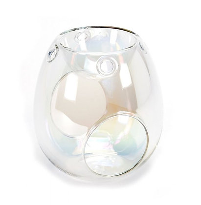 Clear Pearl Tealight Burner