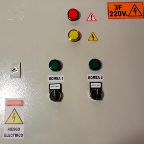 Tablero Duplex de control para hidroneumático 1HP