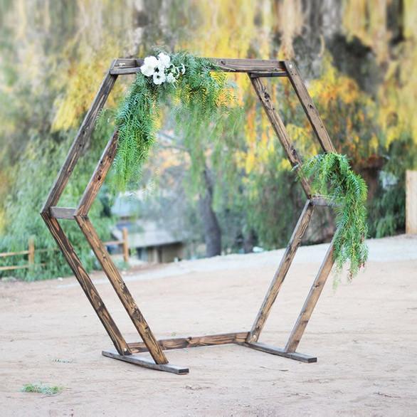 Wooden Hexagon Arch