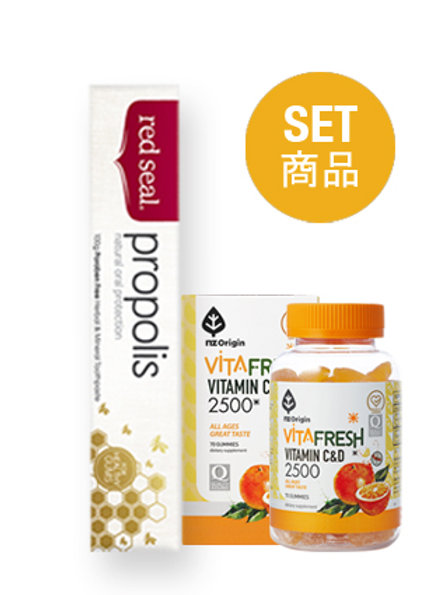 ミカングミ(70個入り) / プロポリス(100G)歯磨き粉のセット品