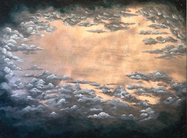 'oh, heaven' original canvas art