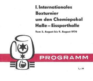 1. Programmheft Chemiepokal 1970