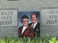 Garden Art memorial near headstone